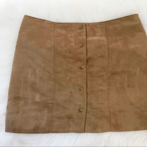 Gap Faux Suede Snap Up Mini Skirt